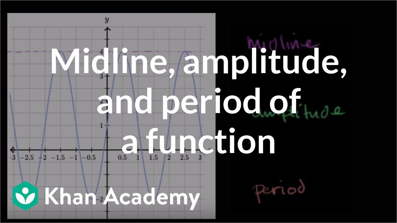 Features of sinusoidal functions (video) | Khan Academy