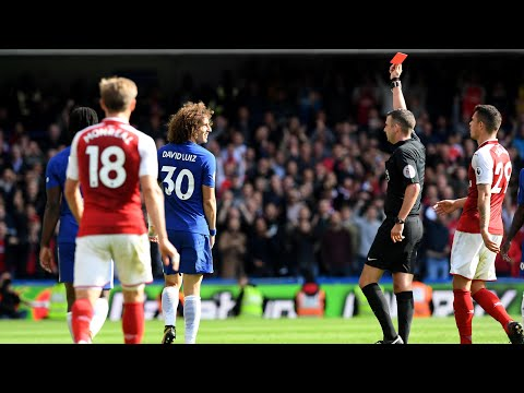 David Luiz's red card foul was excessive force, says Arsène Wenger