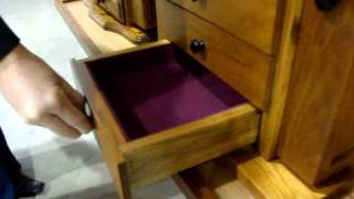 Amish Furniture Shaker Jewelry Chest With Mirror