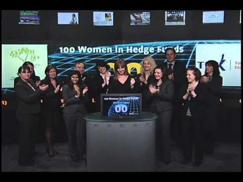100 Women in Hedge Funds open Toronto Stock Exchange, January 24, 2011.