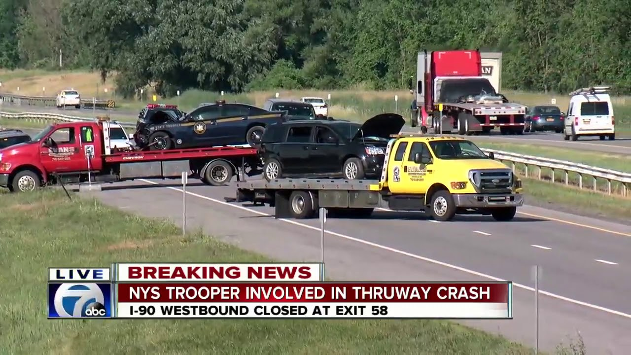 NYS Trooper involved in thruway crash