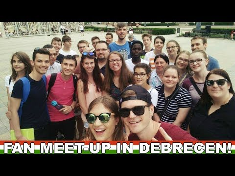 FIRST EVER FAN MEET-UP IN DEBRECEN! 🇭🇺  Hungary Vlog 8
