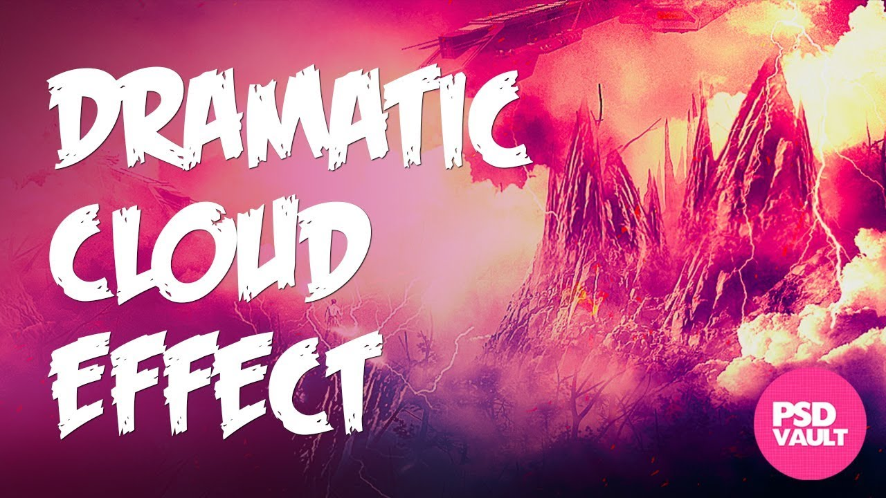 Photoshop Tutorial – How to Paint Dramatic Cloud Effect