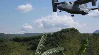 US Marines V-22 Osprey VS Philippine Air Force Huey Helicopter