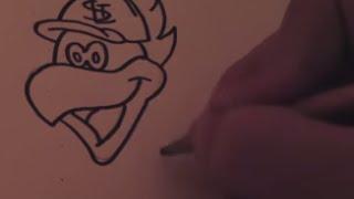 Speed Drawing: Redbird (St. Louis Cardinals)