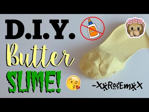 How to make butter slime with glue and cornstarch