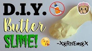 D.I.Y. Butter Slime! No Glue, Borax, Detergent, Pudding Powder, or Cornstarch!