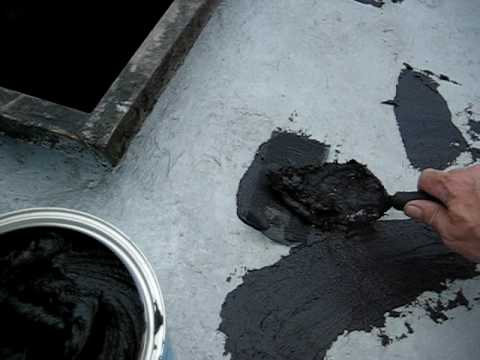 Roof Repair With Tar Amp Fabric Youtube