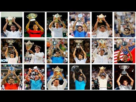 Roger Federer 18 Grand Slam Titles Tribute 1080p