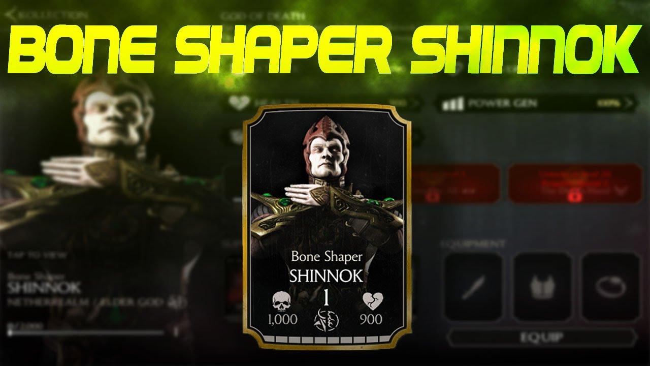 Mortal Kombat X' Android Bone Shaper Shinnok challenge