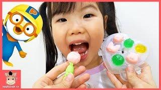 뽀로로 젤리 만들기 장난감 놀이 꾸러기 유니 ♡ 요리놀이 어린이 먹방 피카츄 장난감친구들 pororo kids toys play | 말이야와아이들 MariAndKids