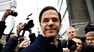 Dutch election: PM Mark Rutte insists he will not quit, even if rival Geert Wilders wins vote