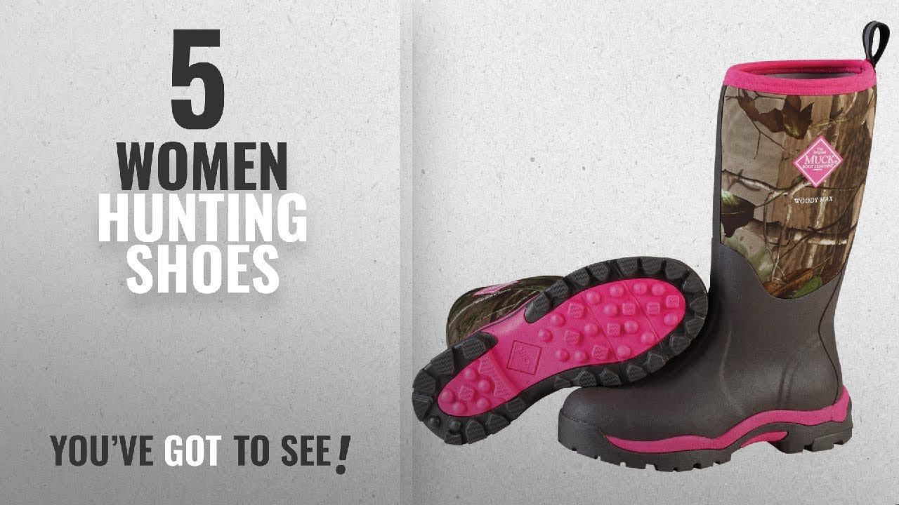 428564de624 Top 5 Women Hunting Shoes [2018]: Muck Boot Womens Woody Pk Hunting Shoes,  Bark/Realtree/Hot Pink,