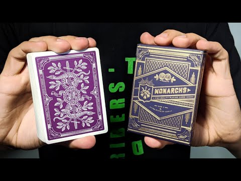 NEW Purple Monarch Playing Cards! Purple Monarch Playing Cards Deck Review By Theory 11!