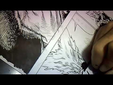 Yusuke Murata Drawing Garou, the hero hunter !! [Ustream] #39