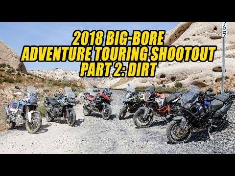 2018 Big-Bore Adventure Touring Shootout – Part 2: Dirt