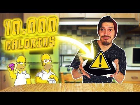 RETO 10.000 CALORÍAS CHALLENGE!!! 10MIL KCAL EN UN DÍA!!