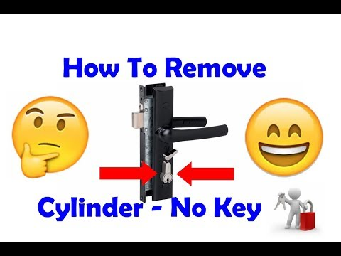 Remove Screen Door Cylinder - without a key
