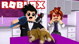 LOKIS TURNED INTO A CLUMSY ANIMAL DOCTOR | ROBLOX-Vet Simulator