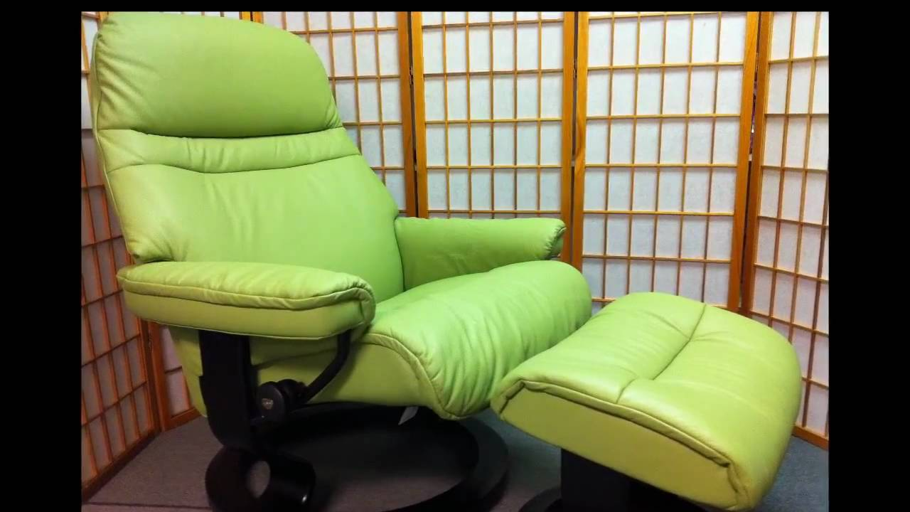 Stressless Sunrise Recliner in Green Paloma Leather & Stressless Sunrise Recliner in Green Paloma Leather - YouTube islam-shia.org