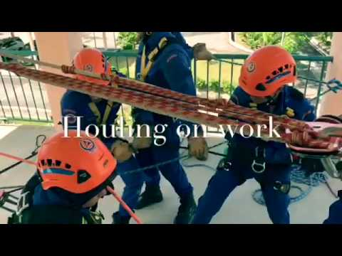 Malaysia civil defence Rope RESCUE Course 02/2017