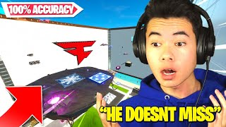 He COMPLETED my Trickshot Course WITH 100% ACCURACY!? | FaZe Kaz