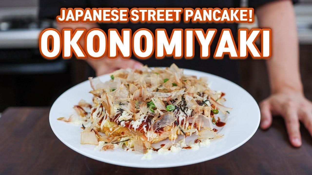 EASY & PERFECT OKONOMIYAKI, The Ultimate Japanese Savory Pancake Recipe! l Better Than Restaurants