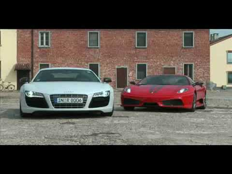 Ferrari California T >> Audi R8 V10 vs Ferrari F430 Scuderia - YouTube