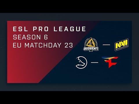 CSGO: GODSENT vs. NaVi  – Map 1 [Overpass] Day 23 ESL Pro League S6 – EU 2nd Stream