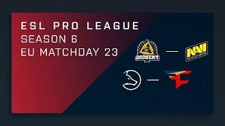 CS:GO: GODSENT vs. NaVi   LDLC vs. FaZe - Day 23 - ESL Pro League Season 6 - EU 2nd Stream
