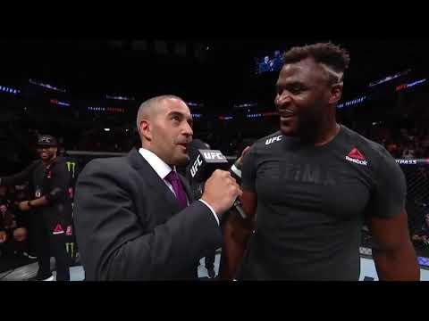 UFC Миннеаполис: Фрэнсис Нганну - Слова после боя