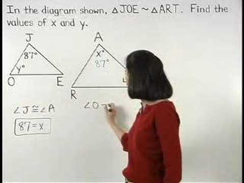 Similar Triangles Mathhelp Com Geometry Help Youtube