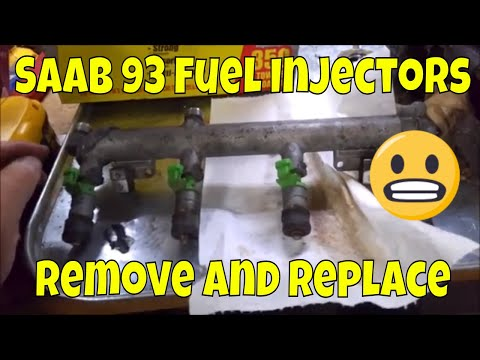 Saab 93 Fuel Injectors Remove and replace