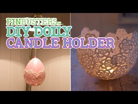 DIY Doily Lantern // DOES THIS WORK?