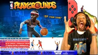 I GOT NBA PLAYGROUNDS EARLY FOR NINTENDO SWITCH!!!! MEGA-STREAM!!!!!! THANK YOU SABER INTERACTIVE!!!
