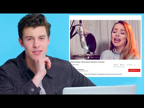 Shawn Mendes Watches Fan Covers On YouTube | Glamour