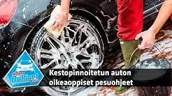 Kestopinnoitetun auton oikeaoppiset pesuohjeet