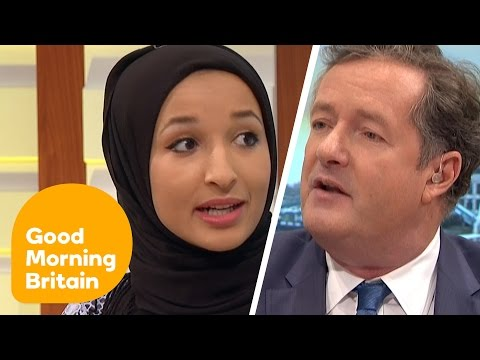 Piers Morgan Debates Headscarf Ban With Muslim Women | Good