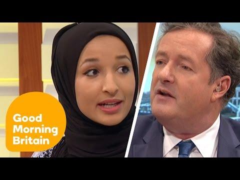 Piers Morgan Debates Headscarf Ban With Muslim Women | Good Morning Britain