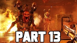 CRAZY TINY ROOM BATTLE!! DOOM Gameplay Walkthrough Part 13 (Doom 4 PS4/X1/PC 1080p 60fps)