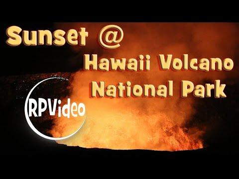 Sunset at Hawaii Volcano National Park