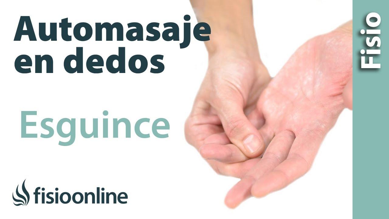 Automasaje para el esguince de ligamentos de los dedos de la mano ...