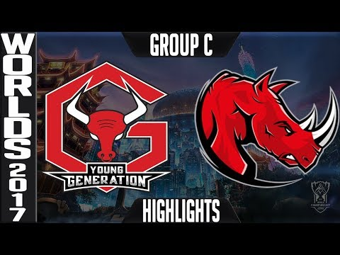 Young Generation vs Kaos Latin Gamers Highlights Game 1 - S7 Worlds 2017 Play in Group C - YG vs KLG