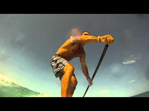 SUP gopro surf clip at Diani Beach KENYA with H2o Extreme