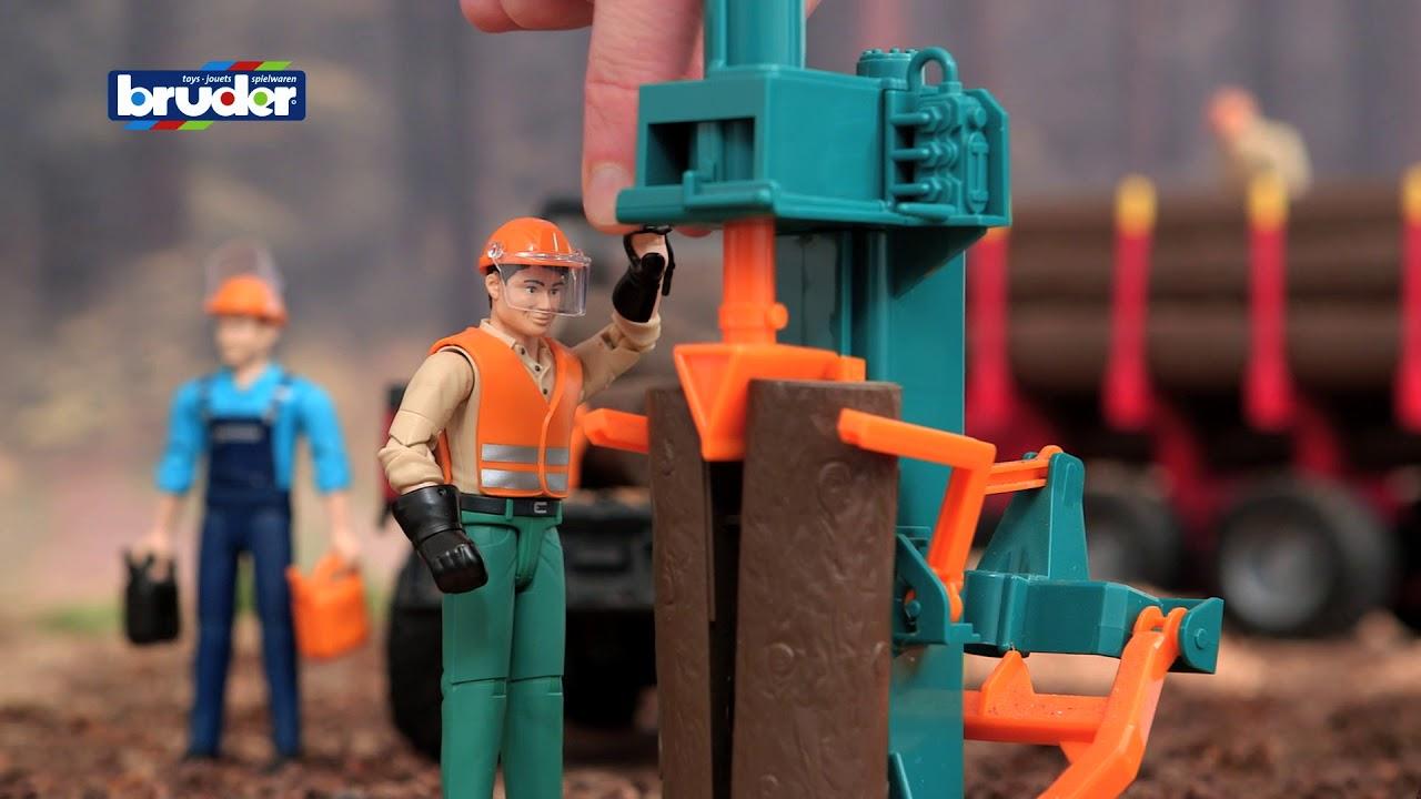 Bruder Toys Bworld Man W Log Splitter And Accessories 62650