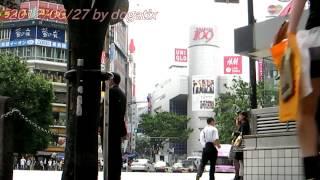 Japan trip 2012 Tokyo Shibuya Station shibuya 109 Scramble crossing UNIQLO H&M Japanese