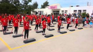 Mumcular Fuat Erten Ortaokulu 23 Nisan Step gosterisi