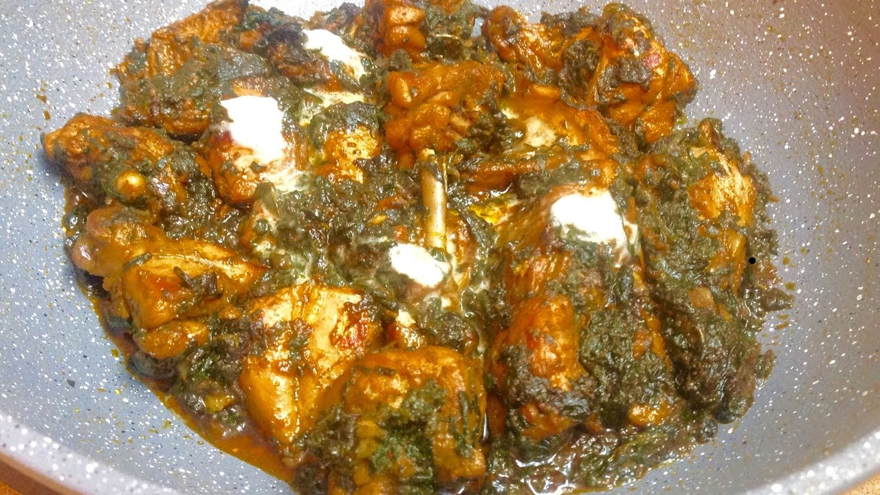 how to make palak chicken