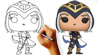 How to Draw Chibi Ashe - League of Legends Champions