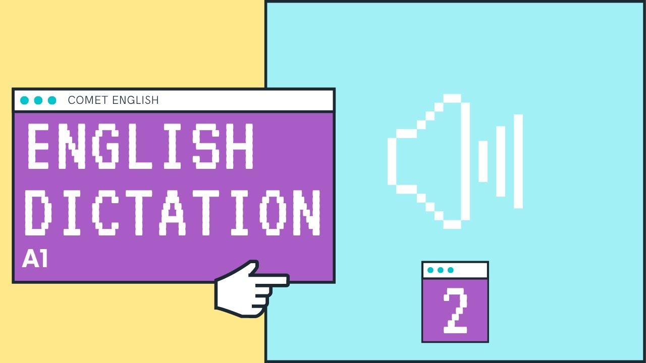 English Dictation A1 .1.2 (Dictado en inglés) - YouTube